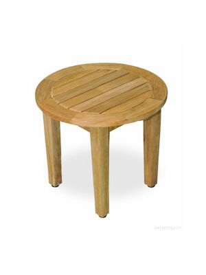 Teak Occasional Table Round 18.5 inch Dia, 17 in H - Millbrook Collection
