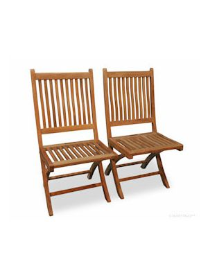 Teak Folding Rockport Chair without Arms