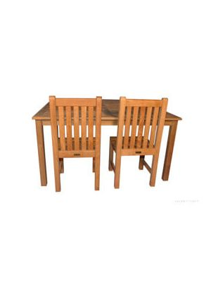 Teak Outdoor Dining Set for 8, Sq Table 60in and 8 Side Chairs
