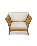 Teak Deep Seating Club Chair Fan Back - Nevis Island Estate Collection