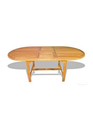 Teak Dining Table Oval Extension 102M