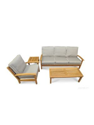 Deep Seating Conversation Set with Sofa Club Chair Mission Coffee Table and End Table