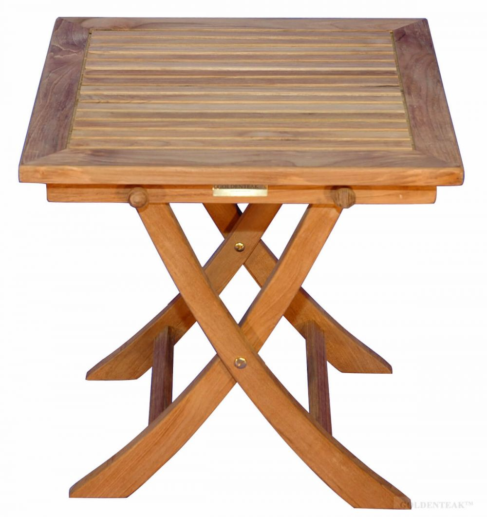 Picture of: Teak Side Square Folding Table Teak End Table Teak Side Table