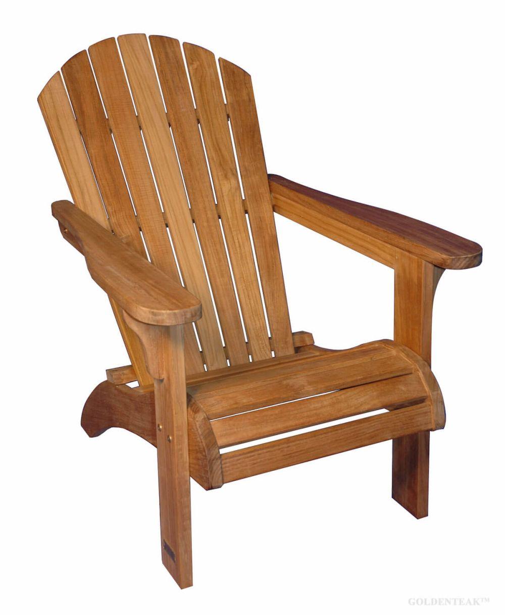 Teak Adirondack Chair Optional Footstool Goldenteak Patio Furniture
