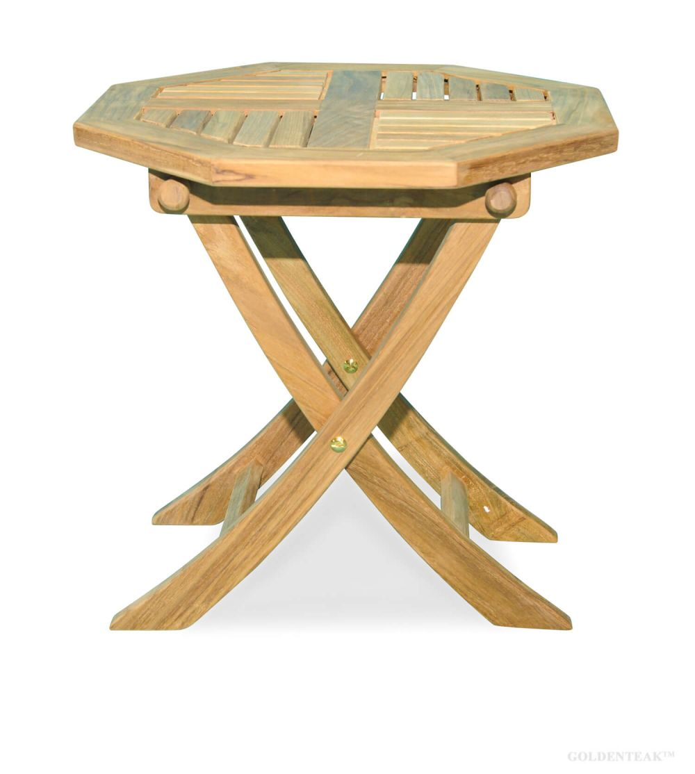 Picture of: Teak Side Table Octagon 18 Dia Teak End Table