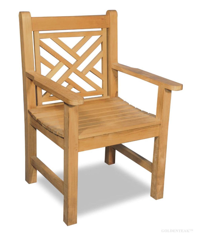 Teak Chair Chippendale With Arms Teak Wood Furniture Goldenteak