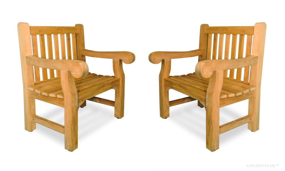Teak Hyde Park Chair Set Of Two, Hyde Park Outdoor Furniture