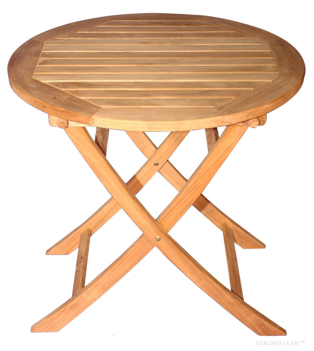Teak Balcony Dining Table 30 Dia Teak Dining Furniture Goldenteak