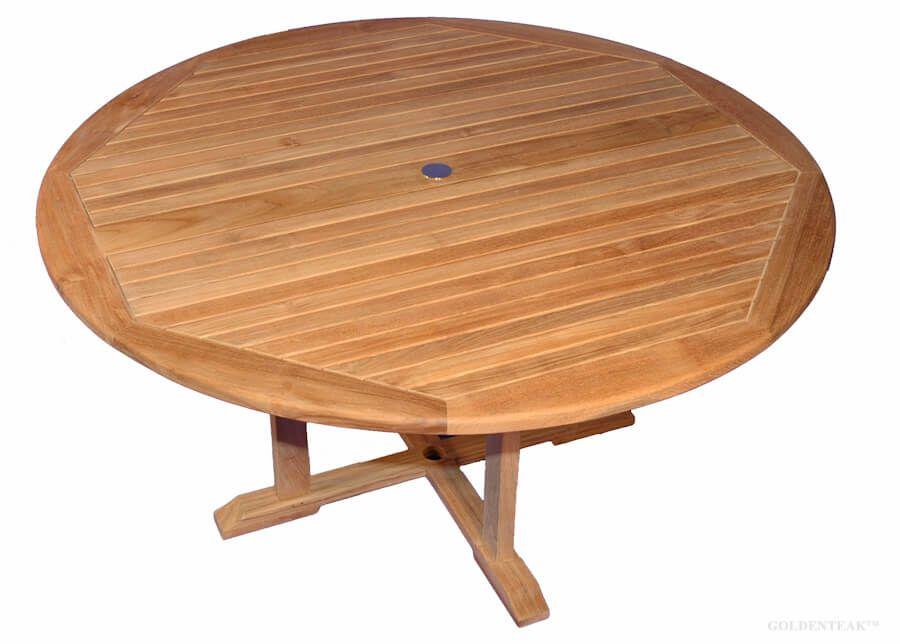Teak Padua Round 60 Dining Table, Round Teak Outdoor Table