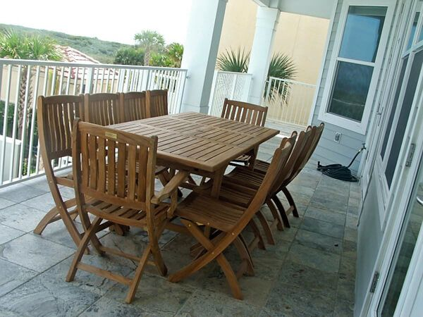 Teak Patio Set Rect Extension Table And Providence Chairs Customer Photo Florida From Goldenteak