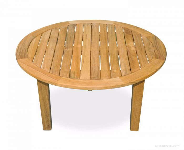 Superieur Teak Round Coffee Table 36 Inch Dia, 17 In H