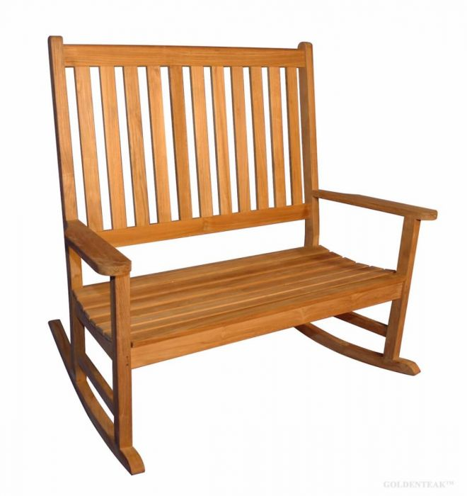 Double Carolina Rocker Or Rocking Bench Premium Teak