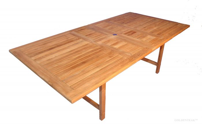 Teak Dining Table Rectangular Extension 2 Leaves Bridgewater Collection