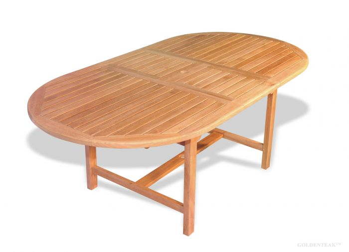 Buy Oval Teak Dining Table With Extension Designed For Outdoor Use - Teak oval extension dining table