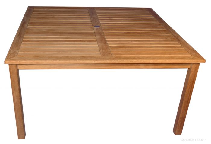 Teak 60 Square Dining Table Large Teak Outdoor Dining Table