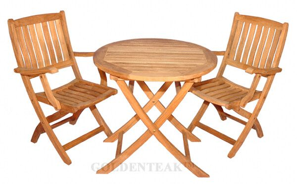 Teak Outdoor Dining Set For Balcony Condo