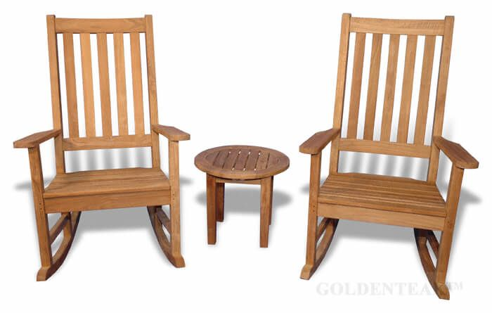 Brilliant Teak Porch Rocking Chair Set Gmtry Best Dining Table And Chair Ideas Images Gmtryco