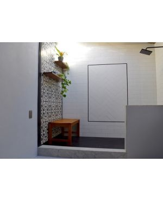Teak Rosemont Bench 36 in in shower -Customer Photo Goldenteak