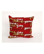 Peace Love Joy Red
