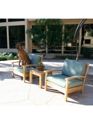 Teak Deep Seating Club Chair and best friend - customer photo