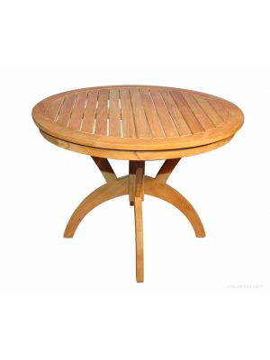 Teak Round Pedestal table 36 inch Dia - Root Design