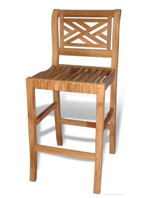 Teak Bar Chair Chippendale