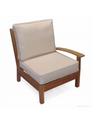 Teak Deep Seating LEFT unit with cushion