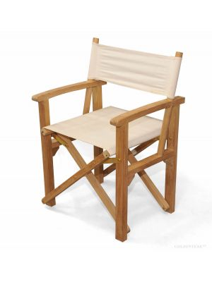 Director's Chair Teak with Sunbrella Fabric Canvas 5453