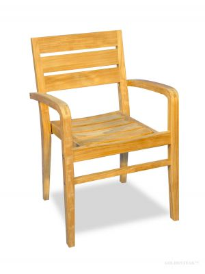 Teak Stacking Chair with arms - Ventura Regatta