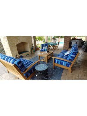 Chappy Set and Teak Patio Set Round - Customer Photo