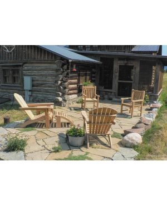 Teak Adirondacks, Block Island Chairs and End Table - Goldenteak Customer Photo