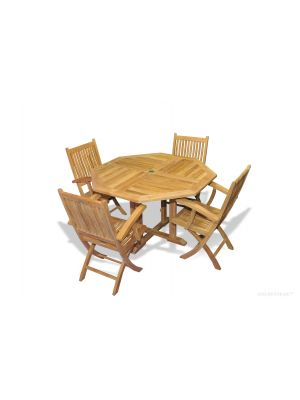 Teak Octagon Table 52