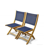 Teak Folding Providence Chair no arms Batyline Navy
