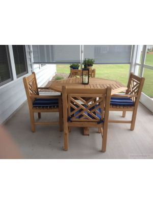 Teak Outdoor Dining Set Chippendale - Customer Photo Goldenteak