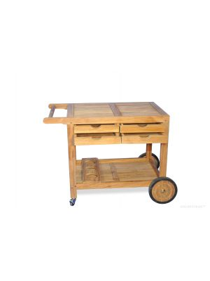 Teak Bar Cart,  BBQ Server Trolley