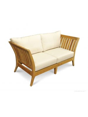 Deep Seating Love Seat in Premium Teak - Nevis Island Estate Collection