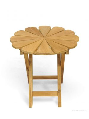 Petals Teak Side Table