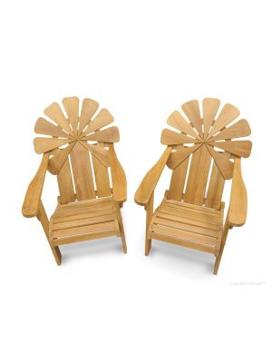 Teak Adirondack Chair Petals - PAIR
