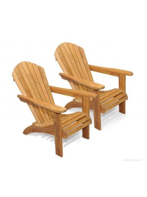 Teak Adirondack Chair PAIR Set, SAVE!!