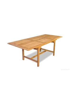 Teak Dining Rectangular Extension Table Medium