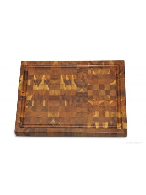Rectangular Cutting Board Teak End Grain