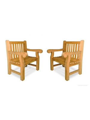 Teak Hyde Park Chair Set of 2