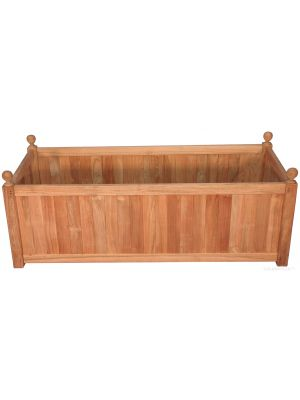 Teak Mission Planter 47 in X 23 in X 20 in