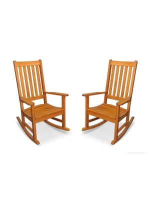 Teak Carolina Rocking Chair PAIR - SPECIAL