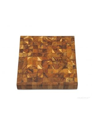 Square Teak End Grain Cutting Board