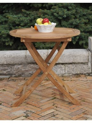 Teak Balcony Table 30 inch Dia