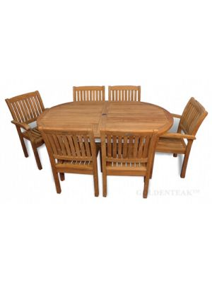 Teak Dining Set Captiva and Millbrook Chairs