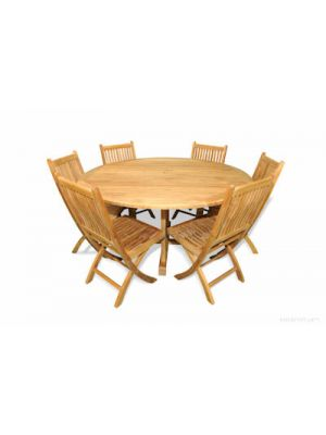 Teak Outdoor Dining Set  Round Padua Table 60