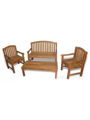 Teak Bench Seating Aquinah Conversation Set