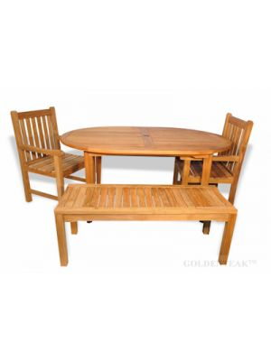 Teak Table Captiva, Backless Bench 60